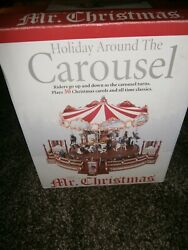 Mr Christmas Holiday Around The Carousel Animated Musical MERRY GO ROUND