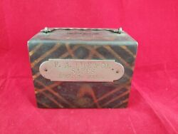 Vintage F.a. Hyde And Co. Safes Boston Mass. Coin Bank Or Lock Box For Keys