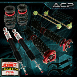 For 14 15 Honda Civic Si Jdm Sport Red/black Full Adjustable Coilover Assembly
