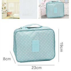 Large Makeup Bag Organizer Holder Large Cosmetic Bag Pouch Waterproof Travel $8.58