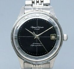 Orient Olympia Calendar Black Dial Hand Winding Vintage Watch 1960and039s