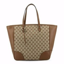 Gucci authentic monogram neverfull  brown Leather Shoulder hand bag designer $850.00