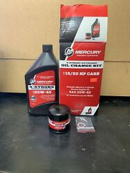 Mercury Marine Outboard 4 Stroke Engine Oil Change Kit 15/20 Hp Fluid And Filter