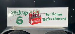 Coca Cola Metal Sign Coke Vintage Style Bottle Button Garage Gas Country Store