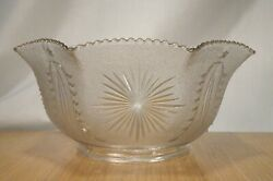 Vintage Eapg Pressed Glass Lamp Shade 4 Fitter -   58254