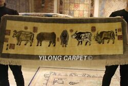Yilong 5and039x1.6and039 400 Lines Carpet High Density Rug Five Cattle Silk Tapestry Y100a
