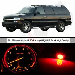 Red  Cluster Gauge Bulbs + Heater Control LED Package For 02-06 Dodge Ram 1500