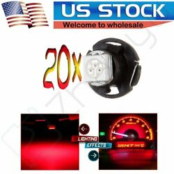 20X Red T5/T4.7 Neo Wedge LED Bulbs 12mm Panel Switch A/C Climate Control Lights