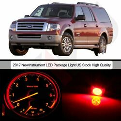 LED Instrument Package Kit Gauge Cluster Red Bulbs for 1999-2002 Ford Expedition