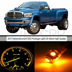 Dash Instrument Cluster Yellow Bulbs A/C Control LED Package for 02-06  Ram 2500