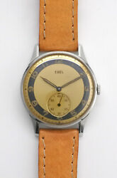 Ebel Small Second Ref 108 Manual Winding Vintage Watch 1940and039s Overhauled