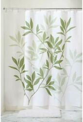 iDesign Fabric Leaves Long Shower Curtain for Master Guest Kids' College Dorm