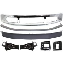 Set Of 7 Bumper Face Bars Chrome Front For F250 Truck F350 Ford F-250 Super Duty