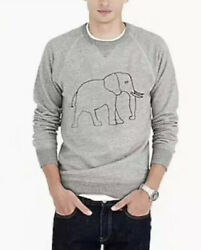 J. Crew Garments For Good Mens Sweater Medium Elephant Gray 100% Cotton