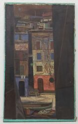 John Teyral Russian / American 1912 - 1999 Venice Canal Painting C.1952
