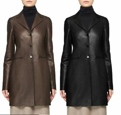 Custom Made To Order Faux Leather Lapel Jacket Top Trench Coat Plus 1x-10x Y228