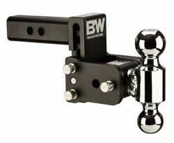 Bandw Tow And Stow Adjustable 3 Drop 3-1/2 Rise Dual 1-7/8 X 2 Size Ball Mount