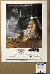 Dave Prowse Darth Vadar Signed Star Wars Photo 12x16 With Beckett Authenticity
