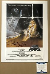 Dave Prowse Signed Star Wars Photo Darth Vadar 12x16 Beckett Authenticated