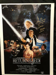 Star Wars Signed Photo By Dave Prowse And Warwick Davis Vadar And Wicket