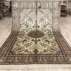 Yilong 6and039x9and039 Pink Handmade Silk Classic Pattern Carpet Hand Woven Area Rugs 207b