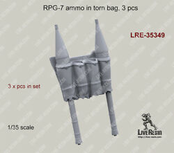 Live Resin 1/35 Rpg-7 Ammo In Torn Bag 3pcs