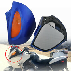 Blue Rearview Mirrors Amber Turn Signal Lens For Bmw R1100 Rt R1100 Rtp R1150 Rt