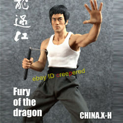 China.xh 1/6 Bruce Lee 78th Anniversary Fury Of The Dragon Kung Fu Master Statue