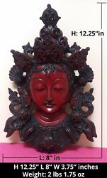 Large Red Tara Buddhist Deity Hard Resin Wall Hanging Sculpture from Nepal $69.99