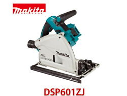 Makita Dsp601zj Plunge Saw 36v 6.5in 165/56mm Bl 346mm Aws Dust Collect Bare
