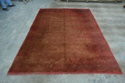 F1893 Antique Handmade Afghan Tribal Mour Gull Soft Wool Area Rug 6and0396 X 9and0398 Feet