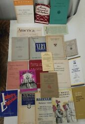 Mid-20th Century Lot Of Labor And Union Booklets Nlra Teamsters Contracts