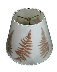 Terrific Laced Edge Pressed Fern Parchment Lamp Shade 12 Bottom 8 1/2 Tall