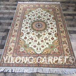 Clearance Yilong 4and039x6and039 Softy Handmade Wool Rug Medallion Woollen Carpet 2070