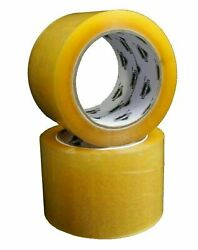 2 Inch X 110 Yards Yellow Transparent Hybrid Packing Tape 1.6 Mil 1368 Rolls