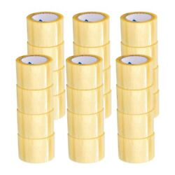 3 Inch X 110 Yards Yellow Transparent Hybrid Packing Tape 1.6 Mil 912 Rolls