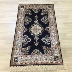 Yilong 2.5and039x4and039 Vintage Handmade Area Rug Flooring Hand Knotted Silk Carpet 175a