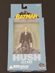 Dc Direct Batman Hush Alfred Action Figure Signed By Jeph Loeb Newsealed