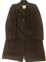 Amalgamated Clothing Workers Of America Long Mens Cashmere Brown Overcoat