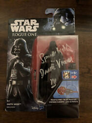 Darth Vadar Signed Action Figure Signed By Spencer Wilding Rogue One