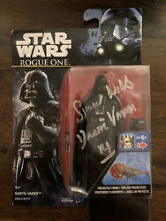Darth Vadar Signed Spencer Wilding Action Figure Rogue One