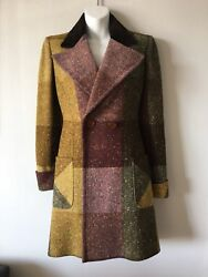 Valentino Wool Front Pockets Notch Collar Coat Size 40