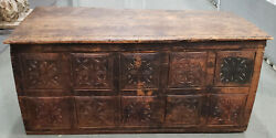 18th Century European Carved Pine Trunk