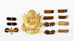 Lot Of Wwii Military Lieutenant Officer Pins, Badges