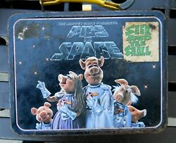 Vintage Thermos Muppets- Pigs In Space Full Size Lunch Box No Thermos As Is