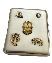 Imperial Russian 84 Silver Cigarette Case With Overlays 1908-1917.