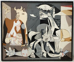 Vintage Oil Painting Remnants Of Guernica By Donna C.1970s