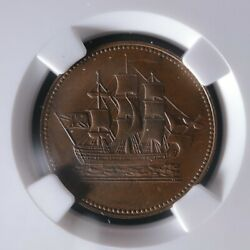 Pe-10-23 Ngc Ms-62 Ships Colonies And Commerce Token Pei Canada Scc-23 Breton 997
