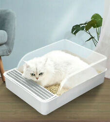 New Cat Toilet Cat Litter Box Jumbo Litter Tray With Scoop Anti Spatter