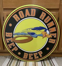 Road Runner Metal Gas Oil Part Garage Car Vintage Style Challenger Plymouth 2